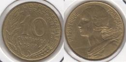 Francia 10 Centimes 1978 KM#929 - Used - Francia