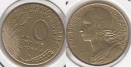 Francia 10 Centimes 1988 KM#929 - Used - Francia
