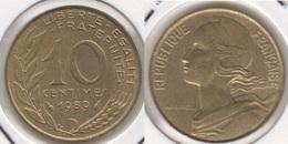 Francia 10 Centimes 1989 KM#929 - Used - Francia