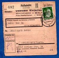 Colis Postal  - Départ Pfaffenhofen -  26/02/1943 - Allemagne