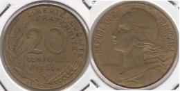 Francia 20 Centimes 1966 KM#930 - Used - E. 20 Centesimi