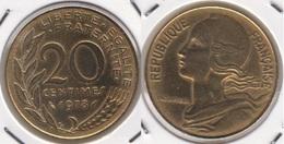 Francia 20 Centimes 1978 KM#930 - Used - E. 20 Centesimi