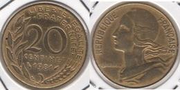 Francia 20 Centimes 1981 KM#930 - Used - Francia