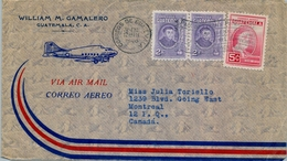 1948 , GUATEMALA , CORREO AÉREO , SOBRE CIRCULADO A CANADA - Guatemala