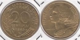 Francia 20 Centimes 1985 KM#930 - Used - E. 20 Centesimi