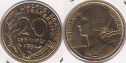 Francia 20 Centimes 1994 KM#930 - Used - E. 20 Centesimi