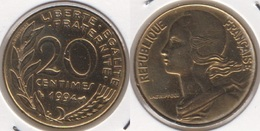 Francia 20 Centimes 1994 KM#930 - Used - Francia