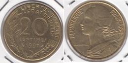 Francia 20 Centimes 1997 KM#930 - Used - E. 20 Centesimi