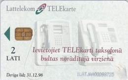 Latvia, LV-LTK-0001A, Payphone,  2 Scans. - Lettland