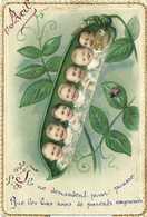 Illustrateur 1er Avril Bébés Coccinelle  Ils Ne Demandent Pour Pousserque Les Bons Sons De Parents Empressés RV - April Fool's Day