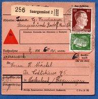 Colis Postal  - Départ Saargemünd 2  -  15/03/1943 - Allemagne