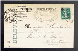 FACTURE 1914 LABORATOIRES ALBERT BUISSON 20 BOULEVARD MONTPARNASSE ET 15 AVENUE DE TOURVILLE A PARIS - 1900 – 1949