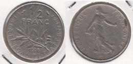 Francia ½ Franc 1968 Km#931.1 - Used - G. 50 Centesimi