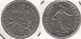 Francia ½ Franc 1985 Km#931.1 - Used - Francia