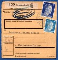 Colis Postal  - Départ Saargemünd 2 -  27/12/1942 - Allemagne