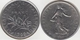 Francia 1 Franc 1960 KM#925.1 - Used - H. 1 Franco