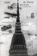 Torino Saluti Da Ricordo Dell'Aviazione Novembre 1910 Aerei Commemorativa - Transport