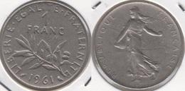 Francia 1 Franc 1961 KM#925.1 - Used - Francia