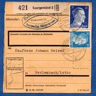 Colis Postal  - Départ Saargemünd 2 -  27/11/1942 - Allemagne