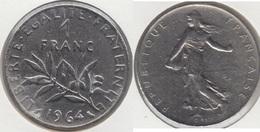 Francia 1 Franc 1964 KM#925.1 - Used - Francia