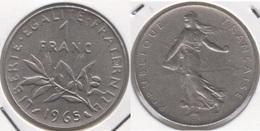 Francia 1 Franc 1965 KM#925.1 - Used - H. 1 Franco