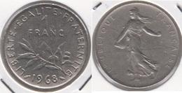 Francia 1 Franc 1968 KM#925.1 - Used - H. 1 Franco