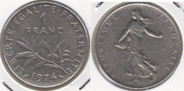 Francia 1 Franc 1974 KM#925.1 - Used - Francia