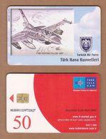AC - TURK TELECOM PHONECARDS -  F - 16C FIGHTING FALCON 1987 CREDITS: 50 DATE: 2007 - Aviones