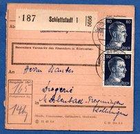 Colis Postal  - Départ Schlettstadt 1  -  14/03/1943 - Allemagne