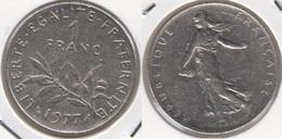 Francia 1 Franc 1977 KM#925.1 - Used - H. 1 Franco