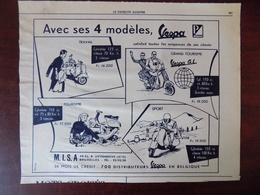 Publicité De Presse // Vespa - Ets M.I.S.A. à Jette - Publicité