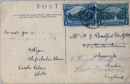 CIRCA 1910 , CHILE , TARJETA POSTAL FOTOGRÁFICA CIRCULADA A LONDRES , CALETA COLOSO - SHIP ARCTIC STEAM - Chile
