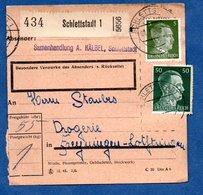 Colis Postal  - Départ Schlettstadt 1  -  09/03/1943 - Allemagne