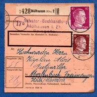 Colis Postal  - Départ Mülhausen 2   -  23/03/1944 - Allemagne