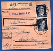 Colis Postal  - Départ Mülhausen 2   -  09/06/1943 - Allemagne