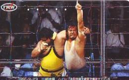 Télécarte  Japon * SUMO * JAPAN (849) LUTTE LUTTEURS WORSTELEN * JUDO * Kampf Wrestling LUCHA Phonecard - Sport
