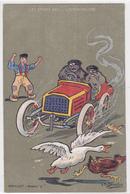Cpa-auto-illustrateur Ch. Beauvais-course Auto-Publicité Pour Elixir De Menthe Tardif ( Marseille ) Au Dos-2 Scans - Cartes Postales