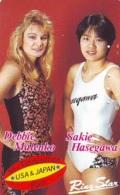 Télécarte  Japon * SUMO * FEMME * MALENKO * JAPAN (913) LUTTE LUTTEURS WORSTELEN * JUDO * Wrestling LUCHA Phonecard - Sport