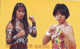 Télécarte  Japon * SUMO * FEMMES *  JAPAN (917) LUTTE LUTTEURS WORSTELEN * JUDO * Wrestling LUCHA Phonecard - Sport