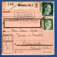 Colis Postal  - Départ Mülhausen 3  -  10/06/1943 - Allemagne