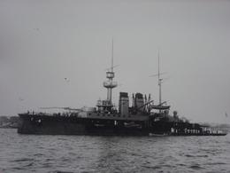 Rare!  Belle Grande Photo Ancienne Cuirassé Henri IV Tampon à L'arrière Militaria Navire - Guerre, Militaire