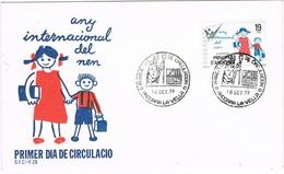 30921. Carta  F.D.C. ANDORRA Española 1979. Any Internacional Del Nen. Año Niño - Andorra Española