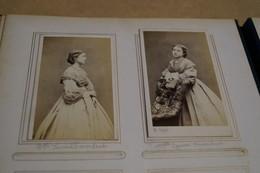 Lot De 2 Anciennes Photos Carton,Melle Louise ? à Identifer,Carjat & Cie.,du 19 Iem. S. Originale - Anciennes (Av. 1900)