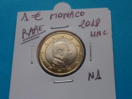 RARE ***  1 EURO MONACO 2018  ( 2 Photos ) - Monaco