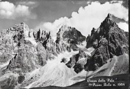 CIMON DELLA PALA - PASSO ROLLE - TIMBRO ALBERGO PASSO ROLLE - SPEDITA DA PASSO PORDOI 19.07 1960 - Alpinisme
