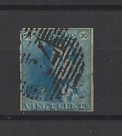 BELGIQUE.  YT  N°2  Obl  1849 - 1849 Epaulettes