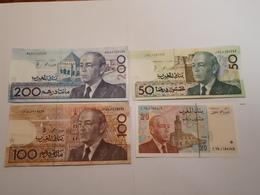 Lot De 4  Billets Marocains - Maroc