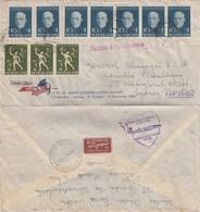 COVER NEDERLAND. 29 10 54.AMSTERDAM TO SYDNEY AUSTRALIA. POSTILLON D'AMOUR KLM - Ohne Zuordnung