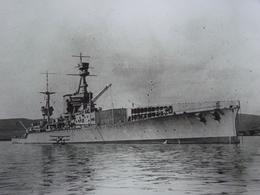 Rare!  Belle Grande Photo Ancienne Cuirassé Furious Tampon à L'arriere Militaria Navire - Guerre, Militaire