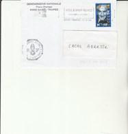 L 2 - Enveloppe Gendarmerie  Avec Flamme NOEL à ST TROPEZ  Avec Louis De Funes - Militaire Stempels Vanaf 1900 (buiten De Oorlog)
